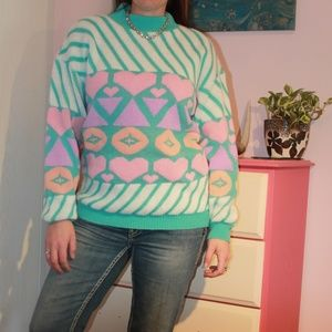 Adele Knitwear Mint Condition Rare Pastel Sweater